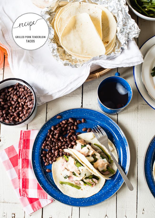 Grilled Pork Tenderloin Tacos - if I can work out what the European equivalent of some of these ingredients is, then this looks yummy