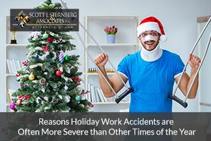 Reasons Holiday Work Accidents are Often More Severe than Other Times of the Year. If you have suffered a workplace injury, contact our attorneys for help.