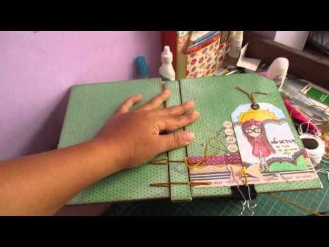 Tutorial libreta con encuadernación Belga ( Cosido de tapas)/Cristina Su-Perú - YouTube