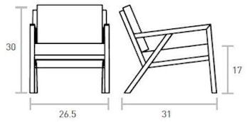 Truss Chair Dimensions