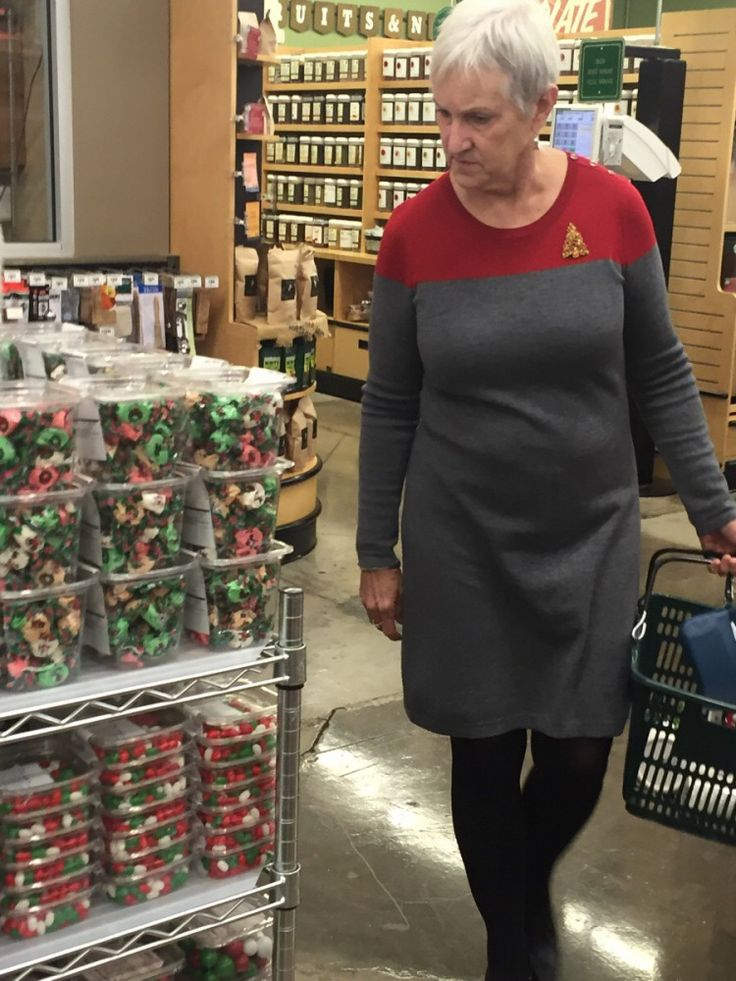 A Woman Put Together a Star Trek Starfleet Uniform Outfit Seemingly by Accident
