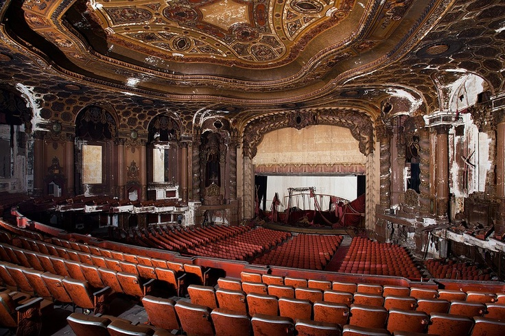 Matt Lambros (USA) - Abandoned theaters #architecture #nobility #theatre #abandoned #decor #decay # #baroque #paintings
