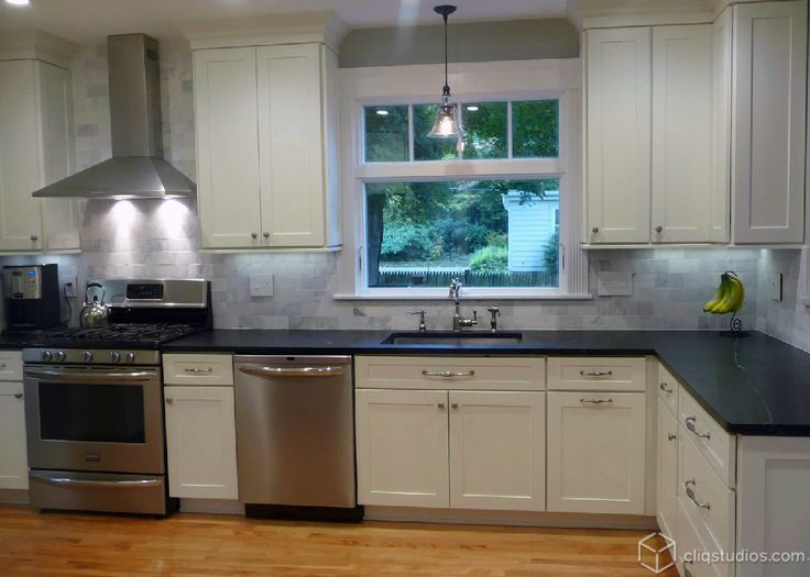 Dayton Painted White Mission Kitchen Cabinets from ...