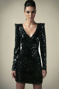 Boutique Nina Shiny Sequin Wrap Front Dress: If I could get this by Halloween, oh the possibilities!