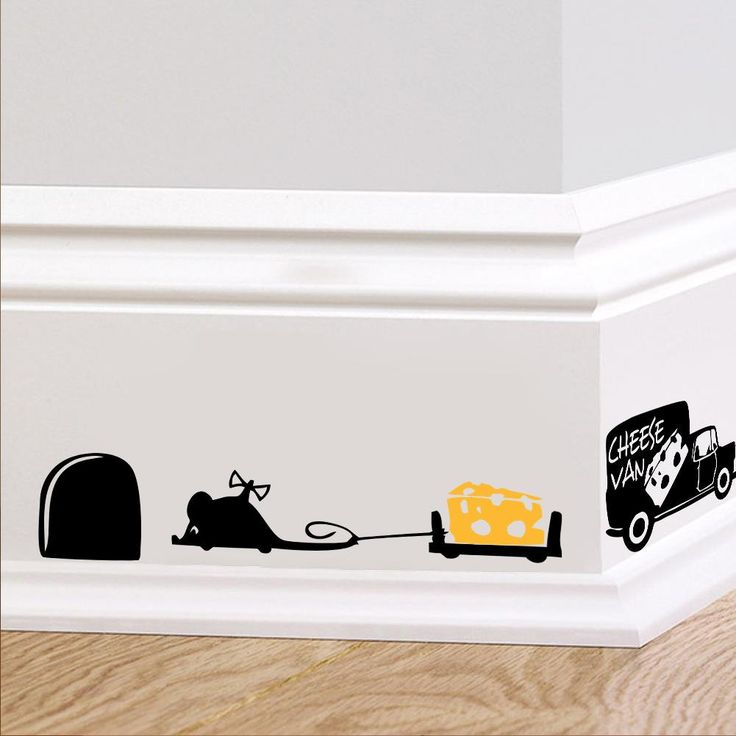 Funny Mouse hole wall stickers creative rat hole cartoon wall stickers bedroom living room mice wall Decals