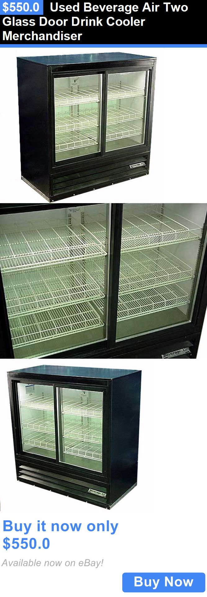 Food And Drink: Used Beverage Air Two Glass Door Drink Cooler Merchandiser BUY IT NOW ONLY: $550.0