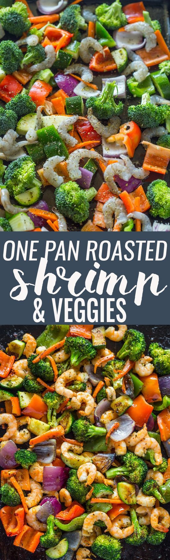 Easy One Pan Roasted Shrimp and Veggies | Gimme Delicious