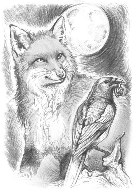 Phex-Vademecum - Fox and Magpie by GaiasAngel.deviantart.com on @DeviantArt