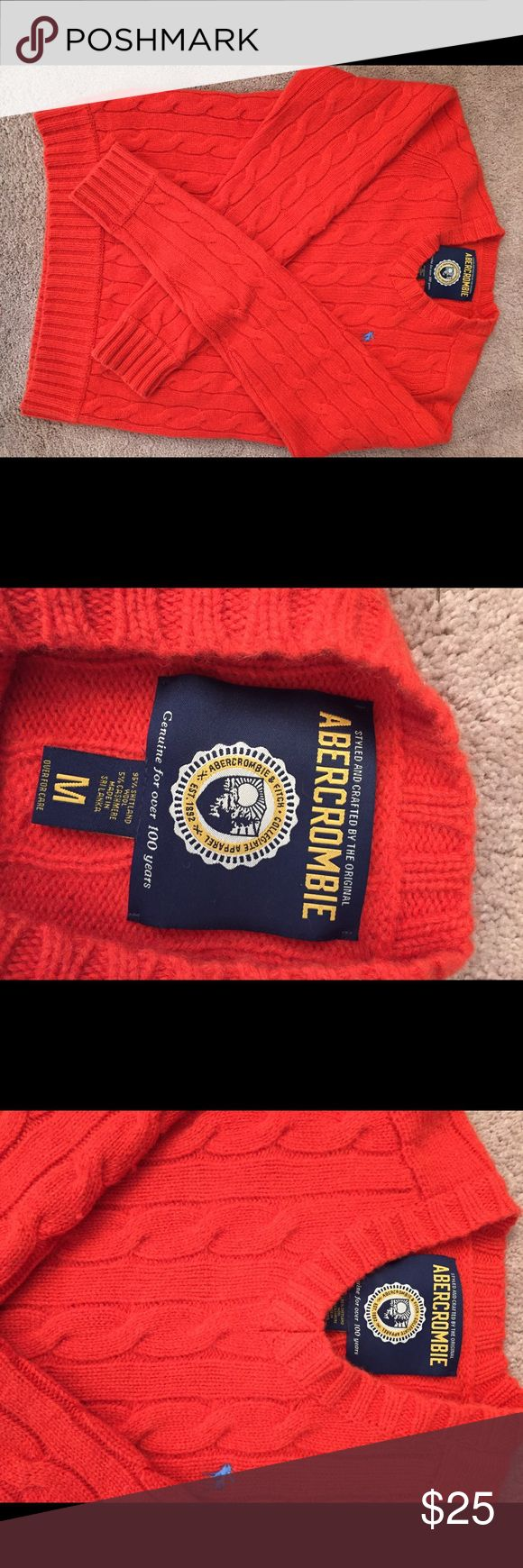 Abercrombie & Fitch Beautiful orange sweater by Abercrombie & Fitch. Sweaters V-Neck