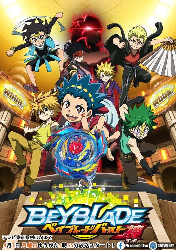 Anime Beyblade Burst God tung PV ấn định ngày ra mắt
