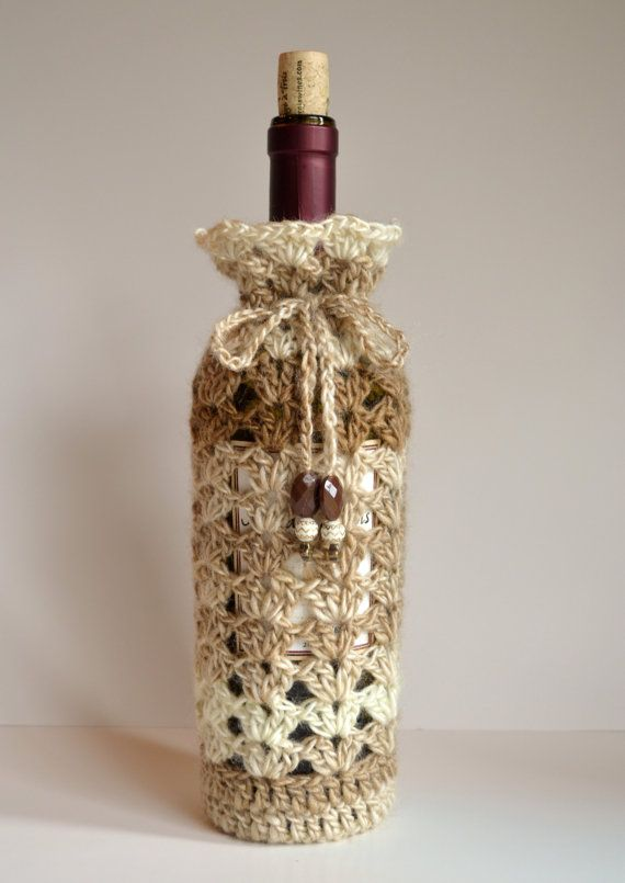 California Dunes Hand Crocheted Wine Bottle Cozy by ThePolkaDotSky, $19.95