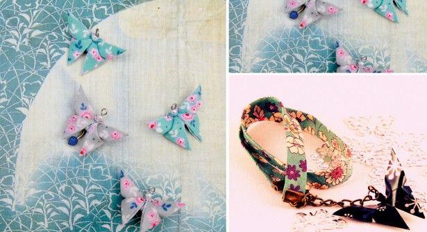 Origami facile : des boucles d'oreilles papillons