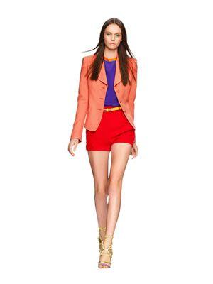 color blocking: Colors Combos, Color Blocking, Coral Blazer, Color Shorts, Color Combos, Jewels Colors, Gold Accent, Colors Blocks, Bright Colors
