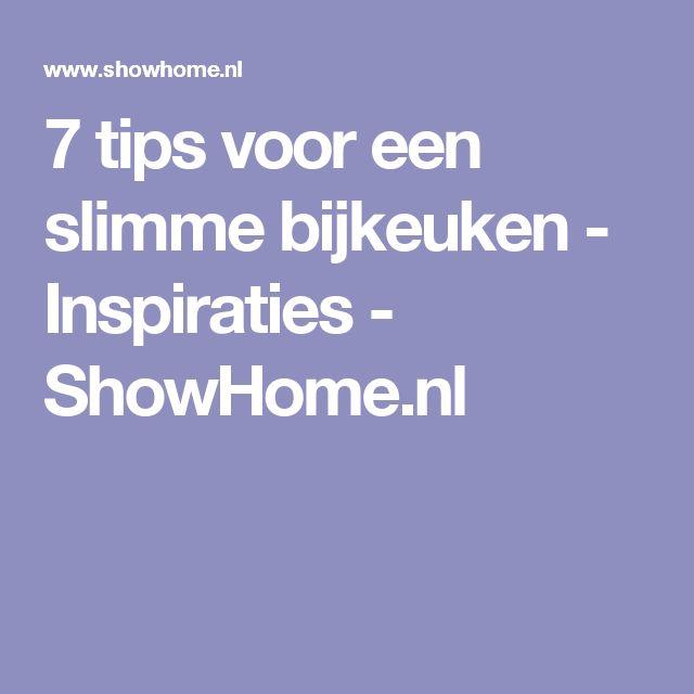 7 tips voor een slimme bijkeuken - Inspiraties - ShowHome.nl