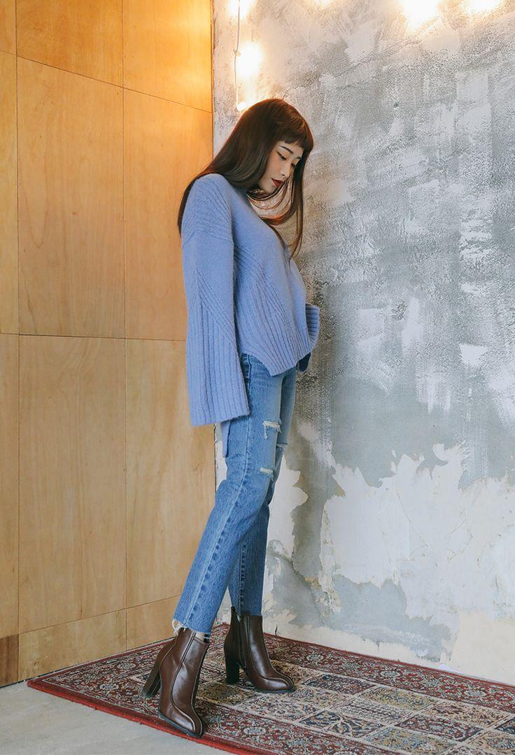 クラッシュカットオフデニム | レディース・ガールズファッション通販サイト - STYLENANDA