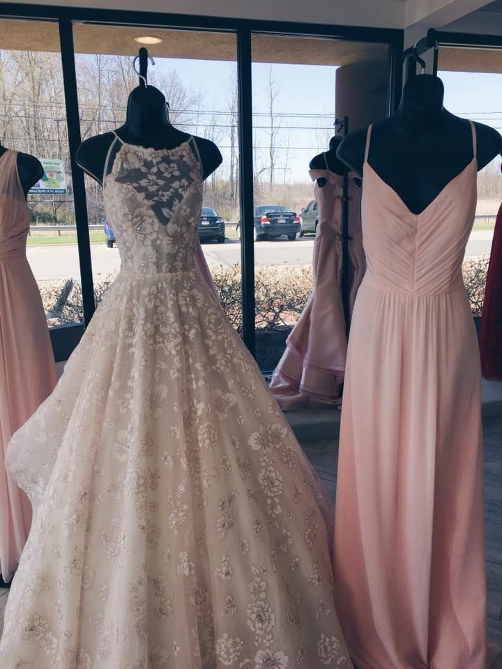 Hayley Paiges Reagan Is Paired With A Petal Pink Bridesmaid Dress