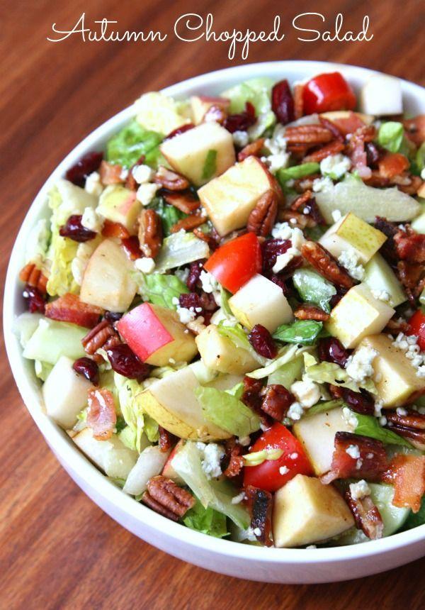 Autumn Chopped Salad - Happy-Go-Lucky #VoteWrightBrandBacon #ad