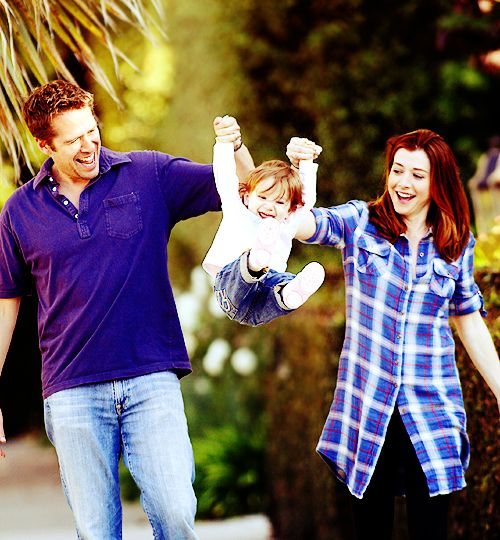 alyson hannigan and alexis denisof with baby