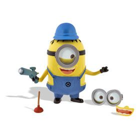 Despicable Me™ Build A Minion - $16.95 | Finally you can build a minion! This creative set includes single and double eye welding goggles, plunger, ray gun, two mouth pieces, two arms and hard hat. The head piece removes from main body to conveniently store the parts inside. Easy assembly of molded PVC pieces.