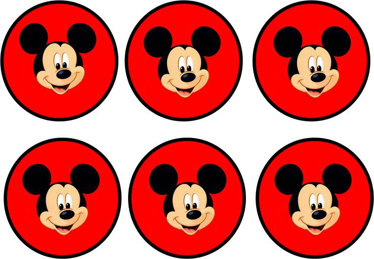 Mickey: Kit Rojo para Imprimir Gratis.