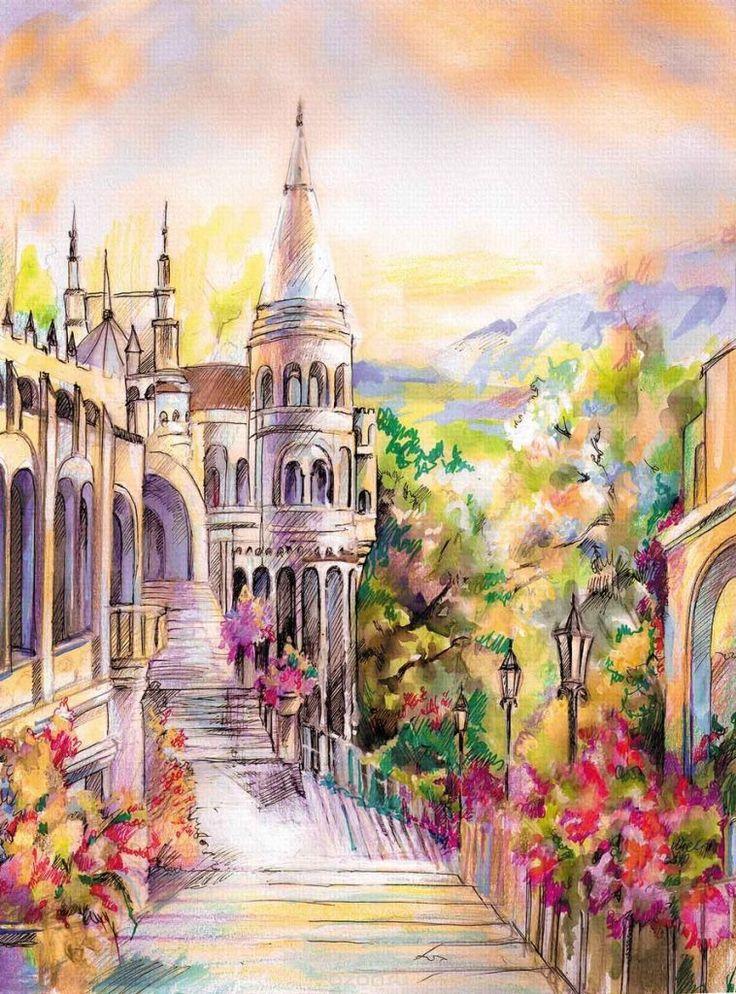 Картинки про сказочный замок (36 фото)   Абстрактные ...