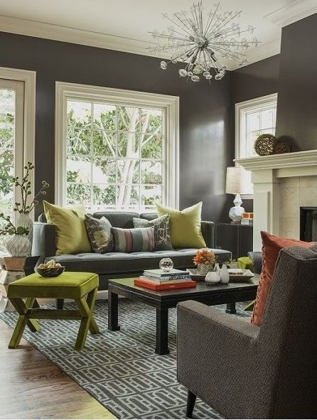 Marvelous Color Changes Everything: Gray And Green Rooms. Gray WallsCharcoal ... Part 18