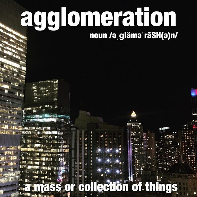 The agglomeration of buildings looked beautiful from the rooftop. #nyc #city #buildings #wordoftheday #dictionary