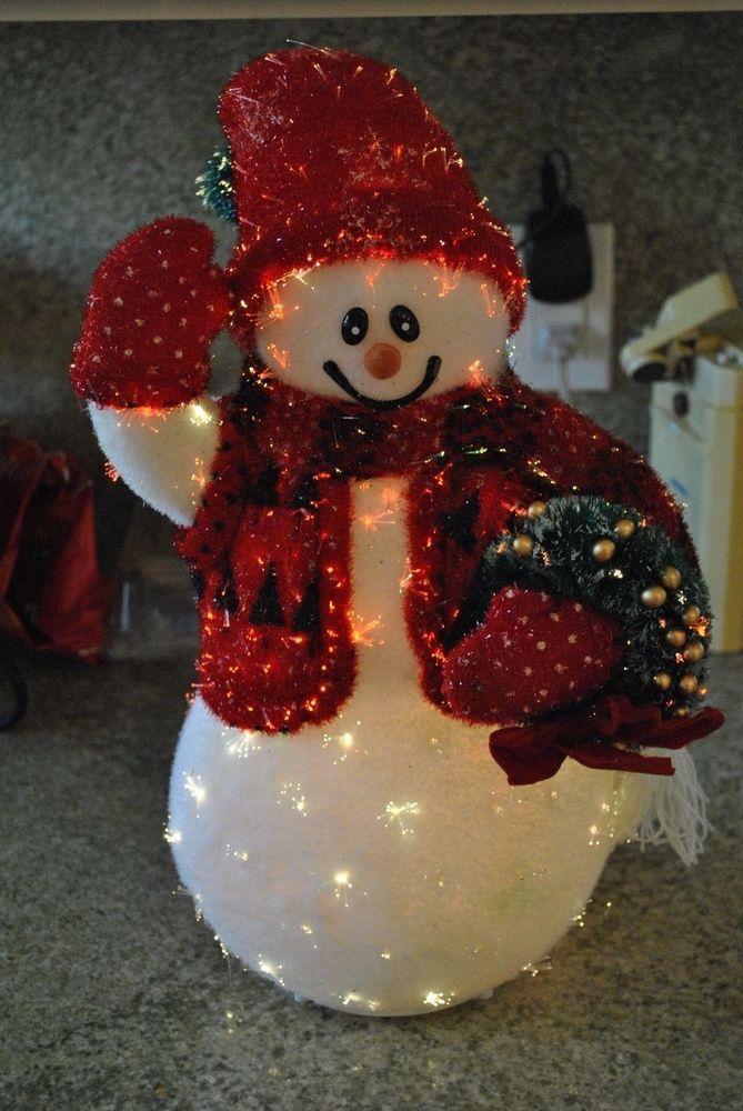 Fiber optic snowman christmas decorations