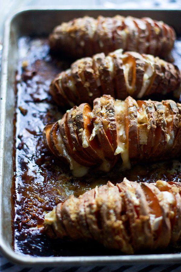 Brie And Brown Sugar Hasselback Sweet Potatoes Recipe