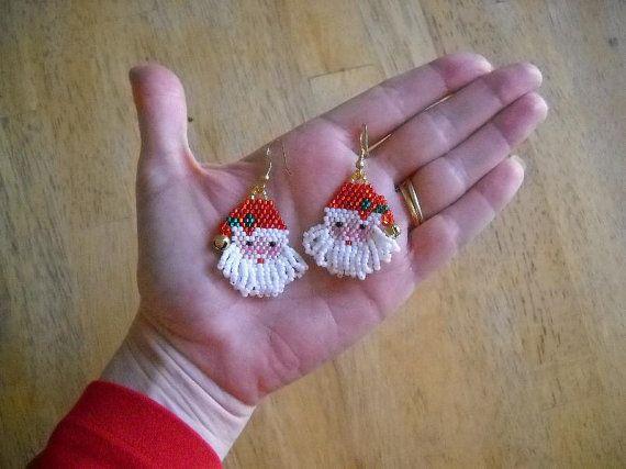 Jolly Old Saint Nicholas perles Boucles d'oreilles par FoxyMomma