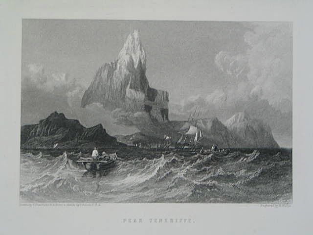 Peak Tenerife - Antique Print Engraved by R Wallis (Drawing by C Stanfield R.A. from a sketch by T Bacon F.S.A.)