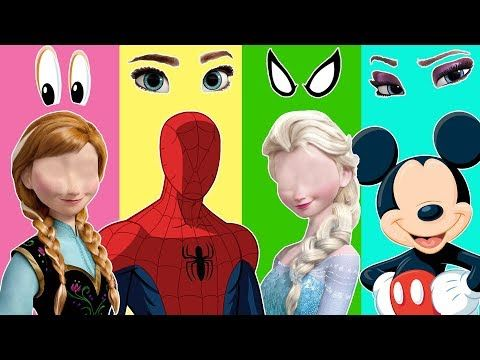 Wrong heads Frozen Elsa Anna Barney Gru Masha and the bear Finger Family Song - YouTube