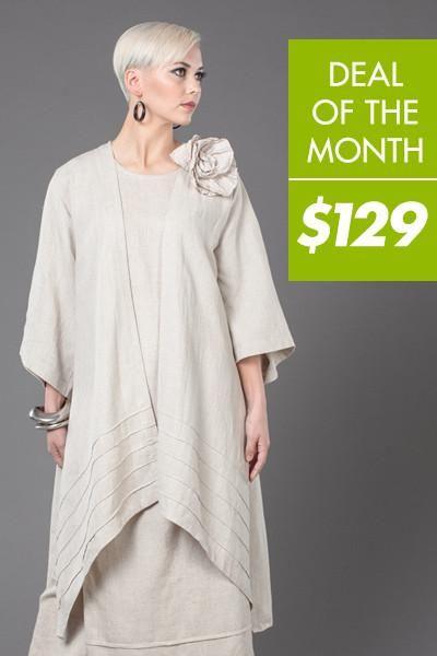 Трикотажная куртка из кимоно в натуральной роме