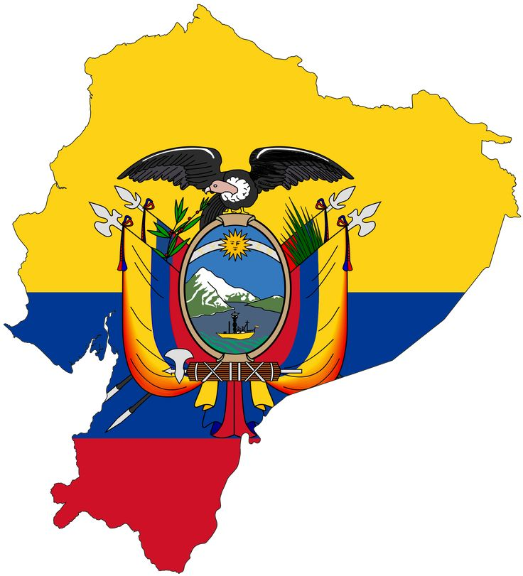Ecuador Flag Map - Mapsof.