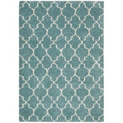"""Nourison Amore Aqua 7 ft. 10 in. x 10 ft. 10 in. Area Rug - 171931 - The Home Depot.  $578.  0.5"""" pile, VERY SOFT!!  Wayfair ($530)"""