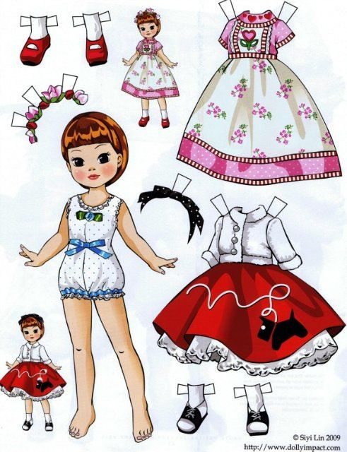 Gallery.ru / Фото #1 - Бумажные куклы - Tawa