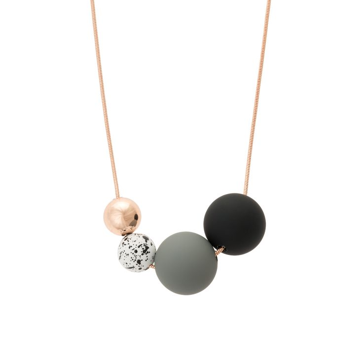Buy the Boca Rose Gold Multi Bead Necklace at Oliver Bonas. Enjoy free worldwide standard delivery for orders over £50.