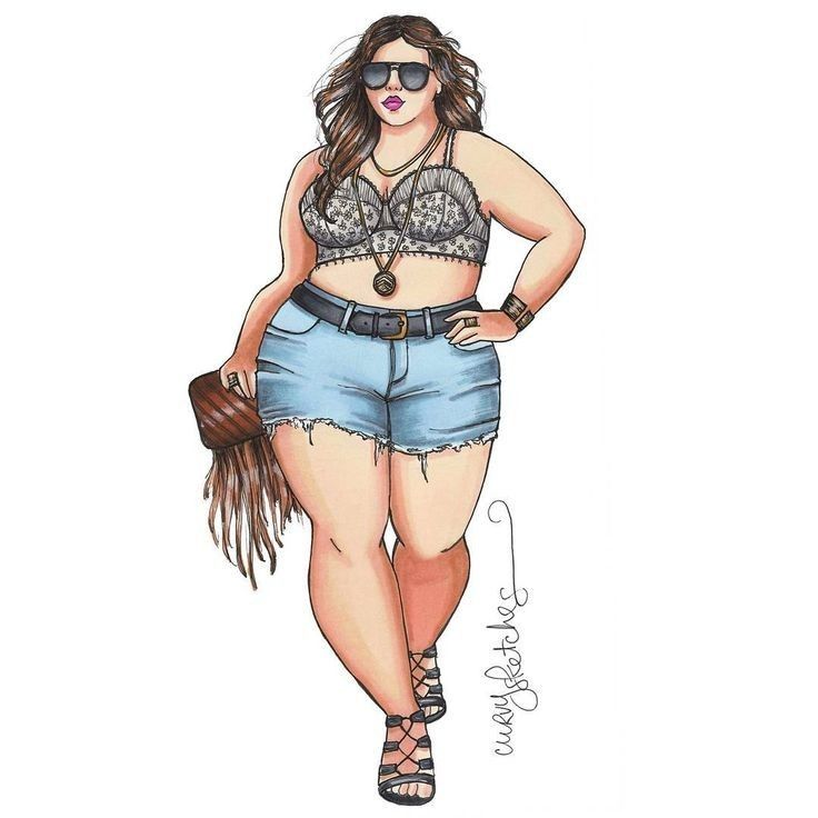 Fotos Dibujos Gorditas Plus Size Art Fashion Drawing Curvy Art