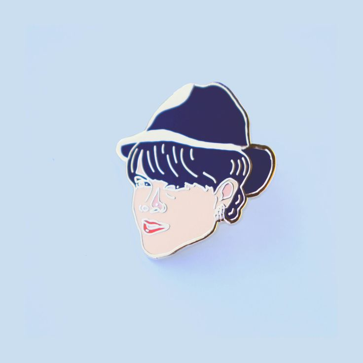 Lapel Pin Abbi Jacobson as alter-ego, Val from Hilarious Broadcity by AmyBlueIllustration on Etsy https://www.etsy.com/listing/506262969/lapel-pin-abbi-jacobson-as-alter-ego-val