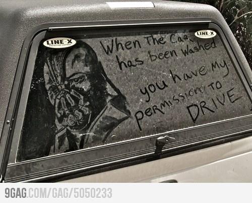 Bane's Auto Wash: Bane, Like A Boss, Most Popular Pin, Funnies Photo, Dirty Cars, Cars Wash, Windows Art, Dark Knights, Toms Hardy