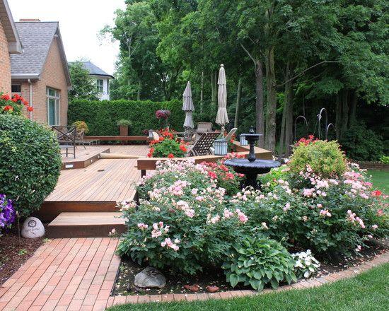 Decks Design, Pictures, Remodel, Decor and Ideas - page 2: Flowers Gardens, Backyard Ideas, Landscape Design, Decks Design, Flowers Beds, Traditional Landscape, Backyard Decks, Arcadia Gardens, Patio Ideas