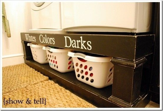 Put Washer and Dryer on a Shelf | 52 Totally Feasible Ways To Organize Your Entire Home