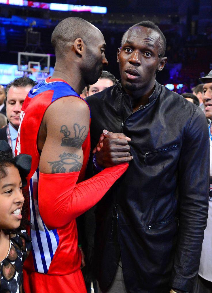 Kobe Bryant and Usain Bolt