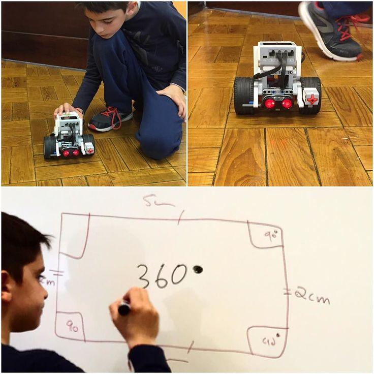 Mais uma aulas daquelas! Boaaassss!   Robótica matemática retas paralelas ângulos rotações.  E tudo numa aula extracurricular do 1º ciclo. by numbersmania