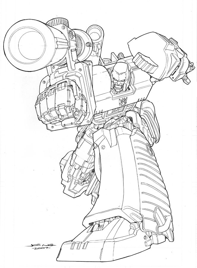Megatron Transformers Coloring Page