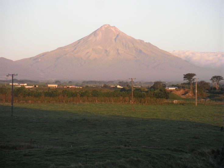 Mount Egmont in the early evening in March 2012.