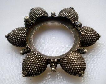 d'epoca tribale vecchio argento braccialetto bracciale tradizionale danza del ventre gioielli antichi
