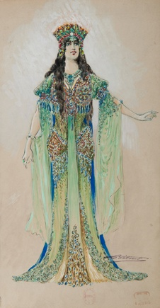 Charles Bétout, costume du rôle-titre (Lucienne Bréval) pour Armide de Gluck, 1905. Opera Garnier