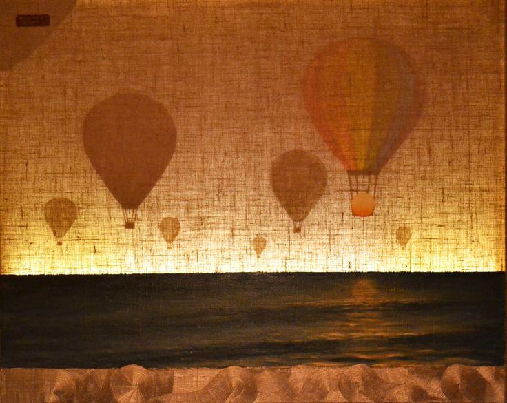 Rainbow balloons * Light series * Barbara Gerodimou * www.gerodimou.com * mixed technique * art contemporary