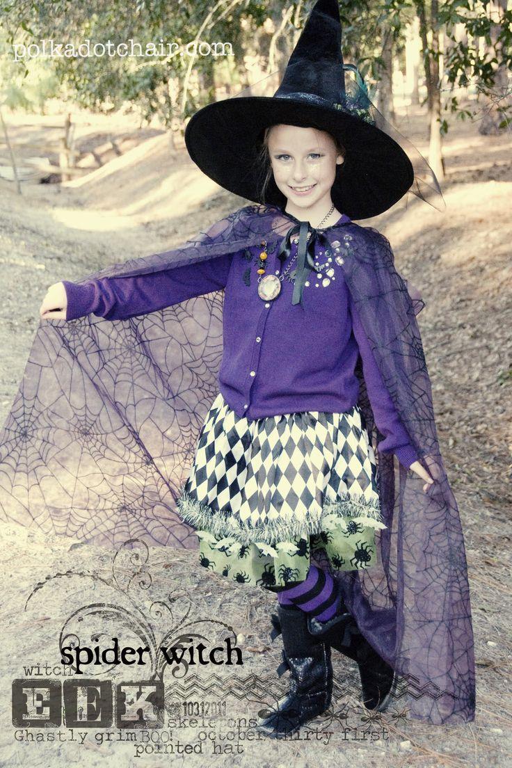Ponad 25 najlepszych pomysłów na temat: Girls Witch Costume na ...